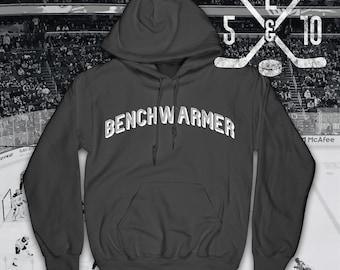 Benchwarmer Hockey Hoodie, Ice Hockey, Hockey Hooded Top, Ice Hockey Hoodie, Hockey Sweatshirt, Hockey, Hockey Lifestyle, Hockey Player