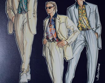 A vintage Leonard fashion illustration 1996