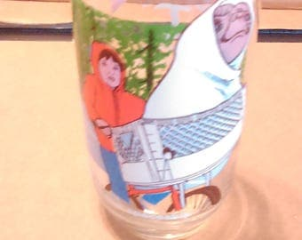 e.t. drinking glass 1982 made for the army & air force exchange service