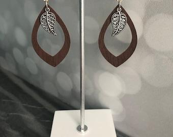 Faux Leather Earrings- Leather Earrings- Leather Jewelry- Earrings- Gift