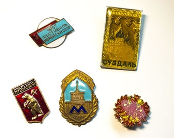 Vintage Soviet Badges - Russian badges - lapel pins