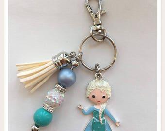 Elsa Inspired Keychain/Bookbag Charm