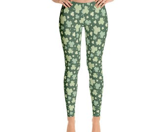 Women's St. Patrick's Day -Leggings,Beautiful Pattern leggings, full printed, Printful, USA,Made for you, Modern,Trendy Design store,