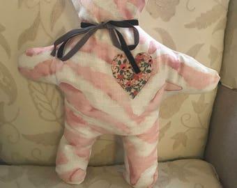 Cute Designer Fabric Teddy Bear Creature