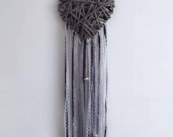 Grey Heart Wall Hanging