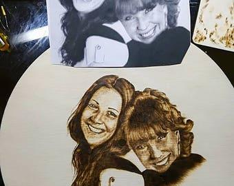 pirography double portrait