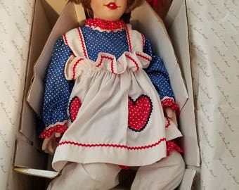 "Kelly Rubert Porcelain ""Raggedy Ann"" Doll - Collector's Edition"
