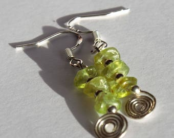 gemstone peridot sterling silver earrings