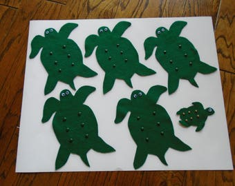 Five Sea Turtles