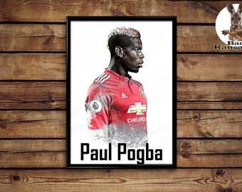 Paul Pogba print wall art home decor poster