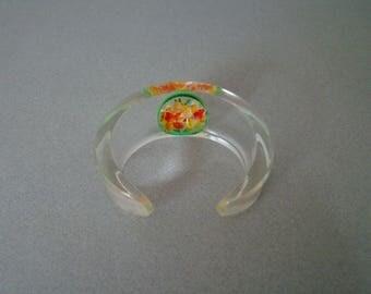 Carved lucite bracelet