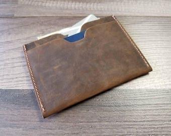Personalized  leather wallet, front pocket wallet, minimalist wallet, slim wallet, credit card holder, wallet