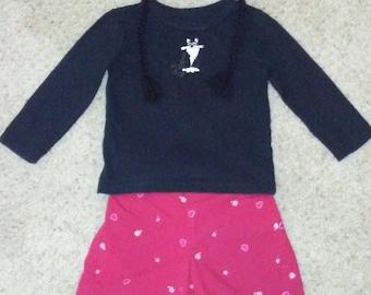 Girls Knicker Outfit w/Cat Hat - Size 3-4