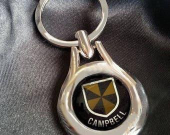 CAMPBELL Chrome Key Ring Fob Keyring Scottish Irish Clan Gift Idea