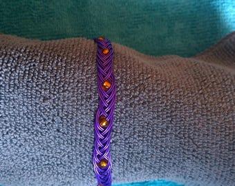 purple twisted wire bracelet
