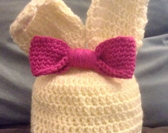 Bunny Beanie with movable ears.