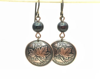 Your Special Year Copper Penny Earrings