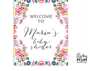 Fiesta Welcome Sign / Fiesta Baby Sign / Mexican Welcome Sign  / Mexican Baby Sign / Digital Printable FT02