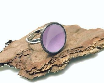 Sale listing // Enameled penny adjustable ring