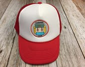 """Youth/Kids Trucker Hat- with """"Camping Club"""" P..."""