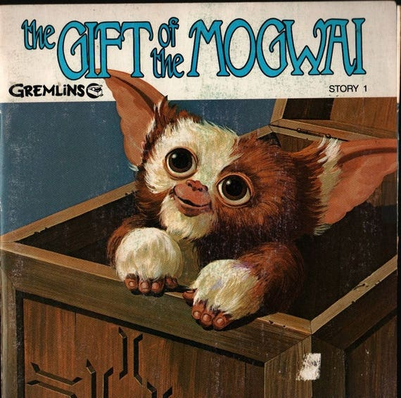 The Gift of the Mogwai Gremlins Story and Record Set - 1984 - Vintage Record & Book