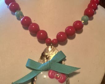 Purrfectly Pink One Of A Kind Beaded Hello Kitty Statement Necklace
