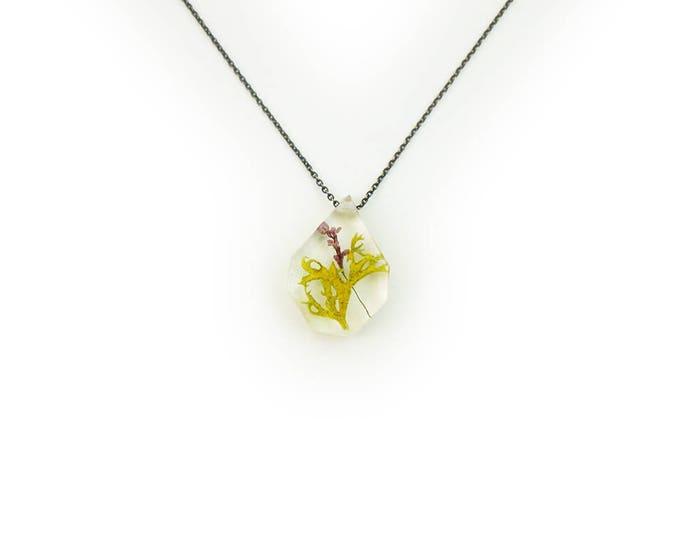 Botanical Terrarium and Flower Resin Necklace