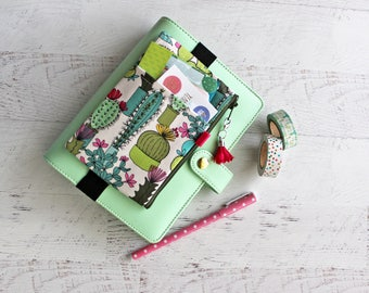 cactus planner pouch - cacti bag - mini planner accessories - mini happy planner cover - cactus pencil pouch - personal planner