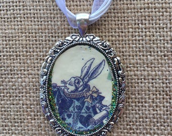 White Rabbit Glitter Pendant