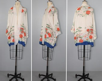 vintage 1920s kimono / robe / flapper / floral / art nouveau