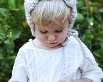 Pixie Bonnet Crochet Pattern, PDF, Baby Bonnet DIY, Instant Download, Simple Hat Pattern, Baby Infant Toddler Hat