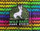 ENAMEL PIN by Wild Hare Fiber Studio for knitting bag discount club SWAG collectible