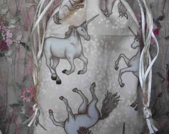 Tarot Bag, Gothic Pouch, Brown Unicorns, Magical Fantasy, Accessories, Divination Supplies, Runes Bag, Oracle Cards, Tarot Supplies, Gift