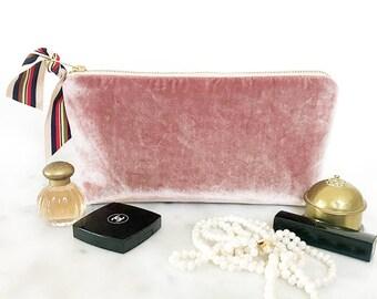 Velvet Clutch. Velvet Bag. Velvet Purse. Velvet Makeup Bag. Gift for Girlfriend. Gift for Wife. Gift for Best Friend. New Years Eve Party.