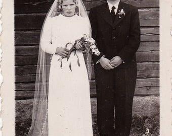 The Unhappy Couple - Found Photograph - Original Photograph, Vintage Photo,  Photography, Snapshot, Portrait, Old photo