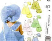 McCall's 5353 Infants' SUNDRESS PANTIES & HAT ©2007 Stitch 'n Save  Small thru Extra Large English and Spanish Espanol Instructions