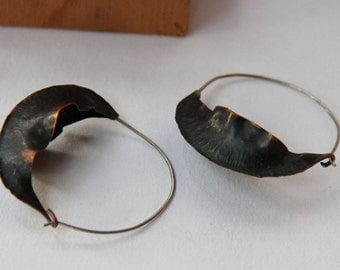 Pod Earrings - Fold Formed - You select metal, size and finish