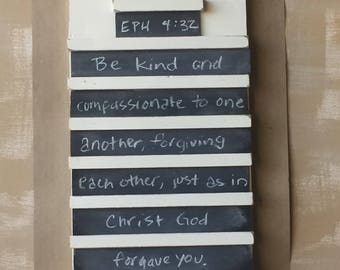 Verse of the Week Chalkboard hymn holder style - READY TO  SHIP - In Time For Christmas-  Order By December 19th