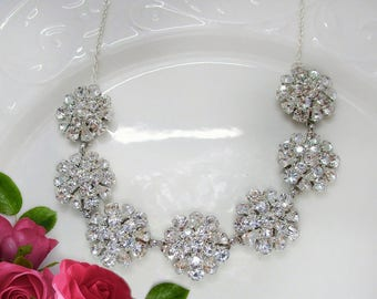 Sale, Wedding Necklace, Bridal Necklace, Wedding statement Necklace, Bridal Statement Necklace, Crystal Statement Necklace