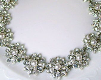 Pearl Wedding Sash Bridal Belt Wedding dress sash bridal dress sash Pearl and Crystal belt rhinestone sash