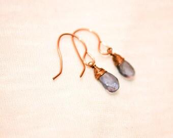 Amethyst earrings, wire wrapped earrings, wire wrapped amethyst, gemstone earrings, boho earrings, hippie chic jewelry, gemstone earrings