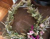 Reserved Listing for Trina Huskins recreation of a Wreath by Clay flowers