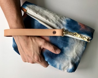 Petit Pouch in hand dyed hemp canvas