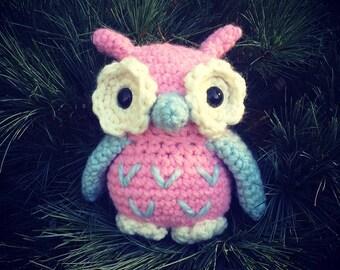 CROCHET PATTERN--Amigurumi Owl