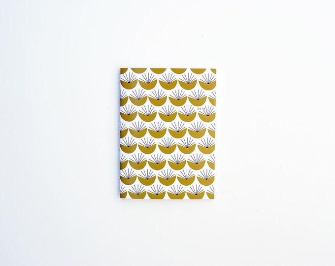 2018 Monthly Planner - Mustard