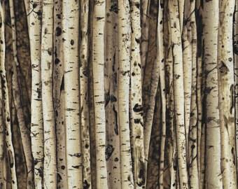 Quilting Fabric | Benartex | Birchtree-C 5739 | 1/4 Yard Fabric Cut | Birchtree Bark - Grove | Browns Creams Fabric | Quilt Stash Builder