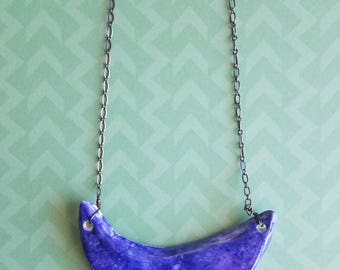 Blue Splatter Necklace