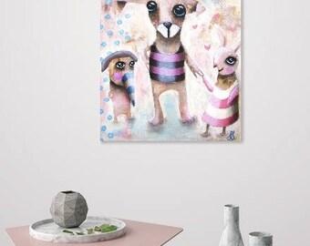 They always meet on saturdays (Original Painting) 25x30cm