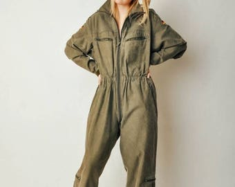 ON SALE Vintage German Military Jumpsuit