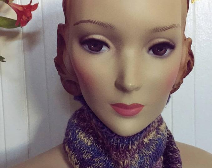 Woolpops Hand Knit Unisex Plum Blossom Pullover Scarf